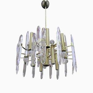 12-Leuchten Kronleuchter von Oscar Torlasco f[r Stilkronen, 1970er
