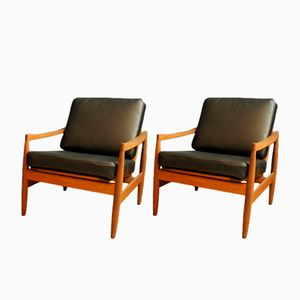 Vintage Teak Easy Chairs by Erik Worst, Set of 2