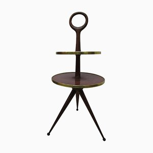 Couchtisch aus Holz mit 2 Ablageflächen von Cesare Lacca, 1950er