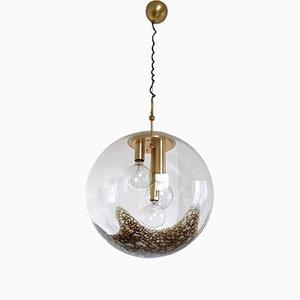 Lámpara colgante italiana grande de vidrio soplado de La Murrina, años 70