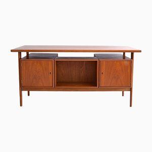 FM60 Schreibtisch aus Teak mit schwebender Tischplatte von Kai Kristiansen für Feldballes Mobelfabrik, 1960er