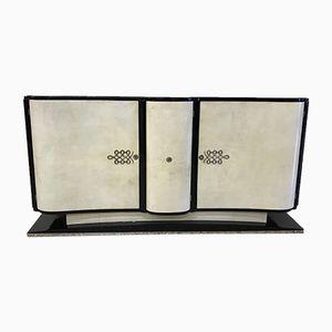 Vintage Art Deco Parchment Sideboard