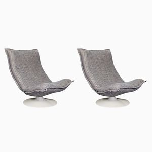 Lounge Chairs F980 by Harcourt for Artifort, 1975, Set of 2