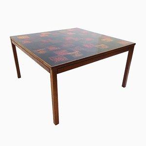 Table Basse en Teck et Émail par David Rosen pour Nordiska Kompaniet, 1960s