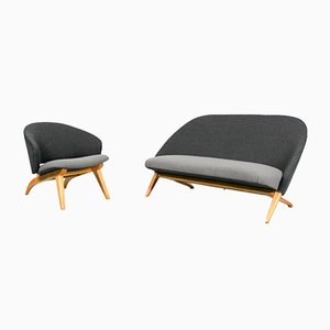 Congo Sofa & Lounge Chair by Theo Ruth for Artifort, 1950s