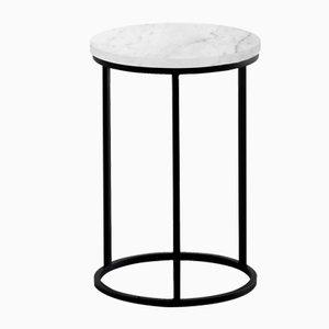 Tavolino ovale bianco di Un'common