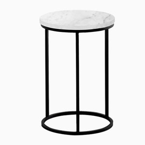 White Oval Side Table by Un'common