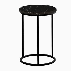 Table d'Appoint Ovale Noire par Un'common