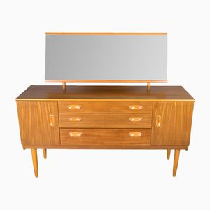 Mid-Century Teak Dressing Table with Mirror