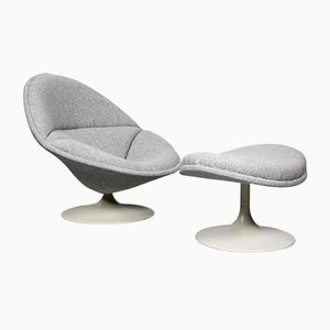 F553 Chair and Ottoman by Pierre Paulin for Artifort, 1960s