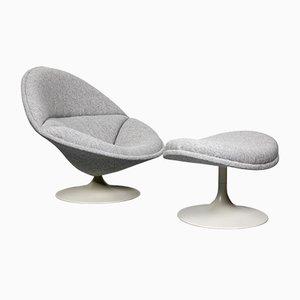 F553 Sessel & Fußhocker von Pierre Paulin für Artifort, 1960er