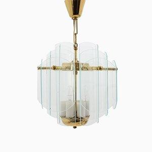 Lámpara colgante de vidrio, años 80