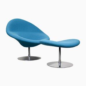 Globe Sessel & Fußhocker von Pierre Paulin für Artifort, 1980er