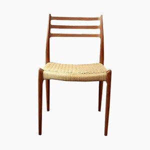 Modell 78 Stuhl von Niels Otto Møller für J.L. Møllers, 1950er