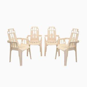 Boston Stühle von Pierre Paulin für Herny Massonnet, 1980er, 4er Set