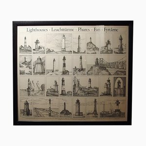 Vintage Leuchtturm Poster