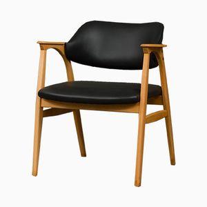 Silla de escritorio danesa Mid-Century, años 60