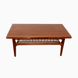Teak Coffee Table with Extensions by Linney Hugues for Trioh, 1960s