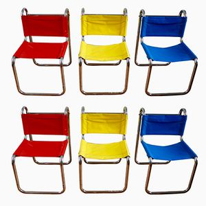 Chairs by Michel Hamon for Prisunic, 1970s, Set of 6