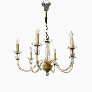 Lámpara de araña de cristal de Murano con seis brazos, años 60