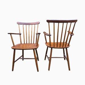 Dänische Beistellstühle von Billund Møbelfabrik, 1950er, 2er Set