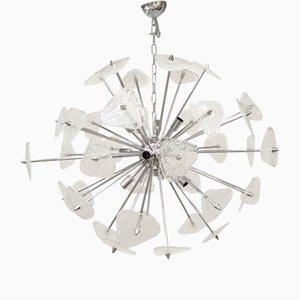 Lampadario Sputnik in vetro di Murano pulegoso di Italian light design