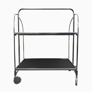 Vintage Chrome Serving Trolley from Bremshey & Co