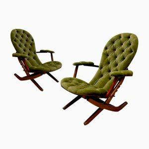 Chaises Pliantes, France, 1950s, Set de 2