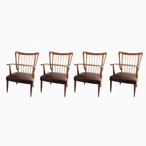 Lounge Chairs by Paolo Buffa, 1950s, Set of 4