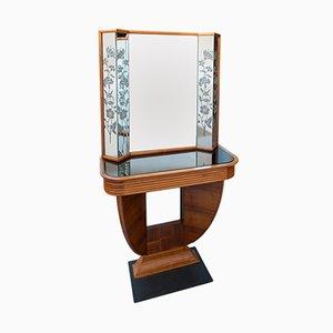 Art Deco Konsole aus Kirschholz