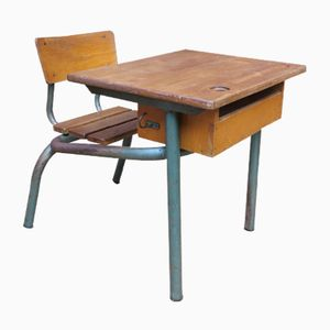 Vintage French School Bench, 1960s