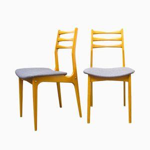 Französische Beistellstühle von Stella, 1960er, 2er Set