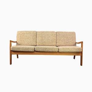 3-Sitzer Sofa mit Gestell aus Teak von Ole Wanscher, 1950er