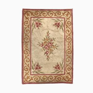Handgeknüpfter antiker französischer Teppich