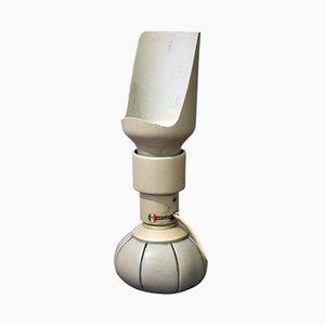 Weiße P600 Tischlampe von Gino Sarfatti für Arteluce, 1965