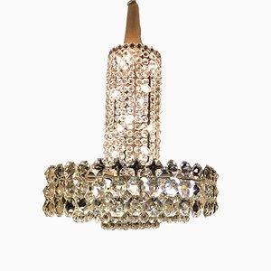 Lámpara de araña grande de cristal de Bakalowits & Söhne, años 60