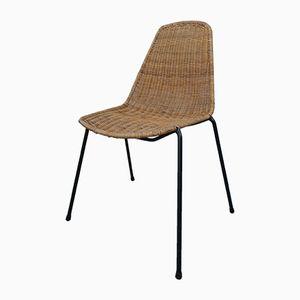 Mid-Century Stuhl aus Korbgeflecht von Gian Franco Legler