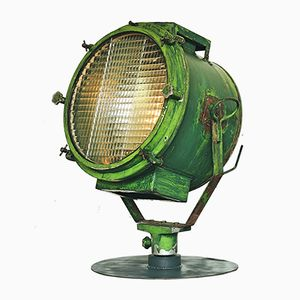 Large Vintage Military Searchlight Lamp