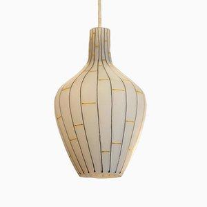 Lampada in vetro opalino, Italia, anni '60