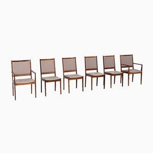 Sedie da pranzo moderniste in palissandro, Danimarca, anni '60, set di 6