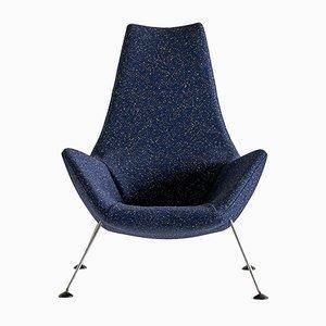 Sessel aus blauem Bouclé von Peter Hoyte, 1960er