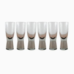 Vintage Canada Smoked Glasses by Per Lutken for Holmegaard, Set of 6