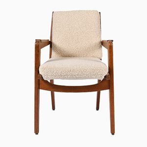 Vintage Oak Model FS 106 Armchair by Pierre Guariche