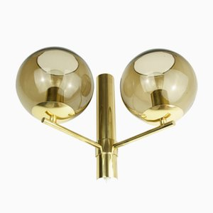 Mid-Century Swedish Double Wall Light, 1960s