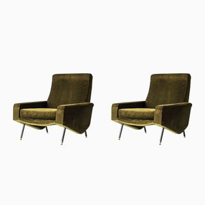 Vintage Troïka Lounge Chairs by Paul Geoffroy for Airborne, Set of 2