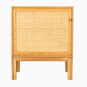 Small Oak and Rattan Cupboard by Alf Svensson, 1960s