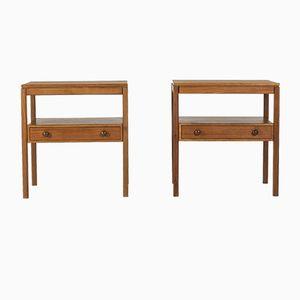 Tables de Chevet en Teck par Sven Engström & Gunnar Myrstrand pour Bodafors, 1960s, Set de 2