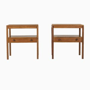 Teak Bedside Tables by Sven Engström & Gunnar Myrstrand for Bodafors, 1960s, Set of 2