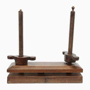 Small Late 19th Century Book Binding Press in Walnut