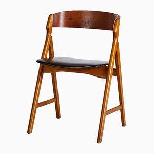 Modell 71 Beistellstuhl aus Teak von Henning Kjærnulf für Boltings Stolefabrik, 1960er